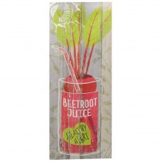 QUADRO STAMPA COCKTAIL  beetroot juice cm 24X60X1,8